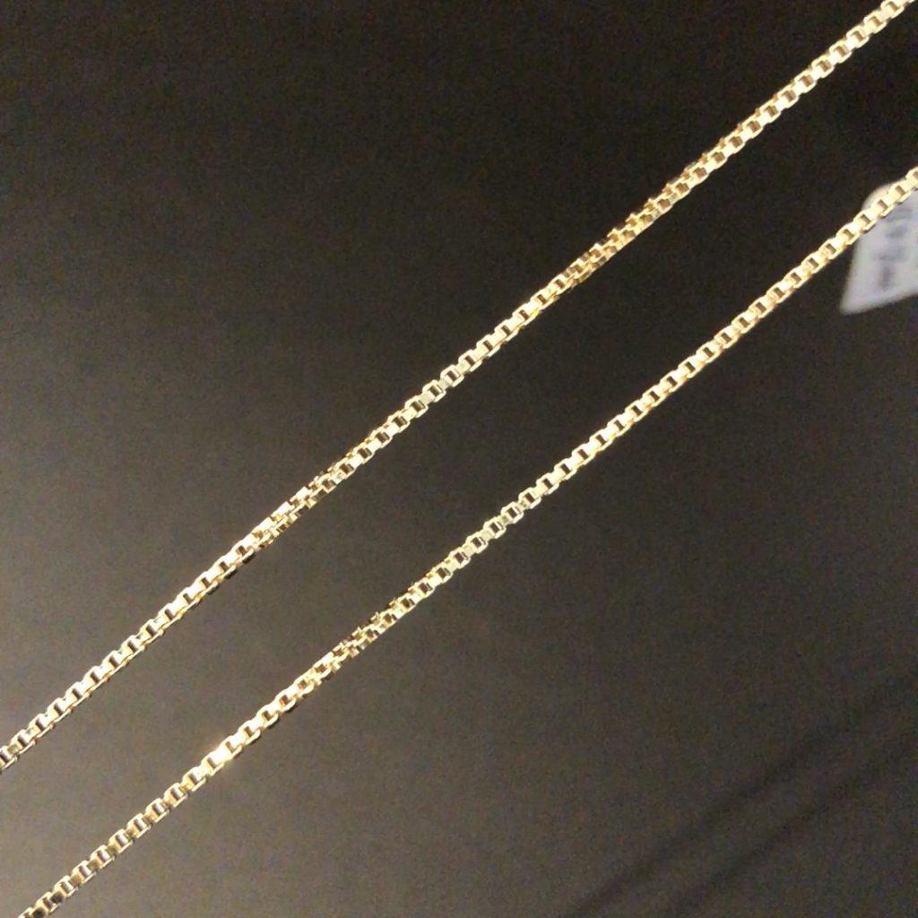 GUC-236 geelgouden 18 kt venetiaans collier 60 cm