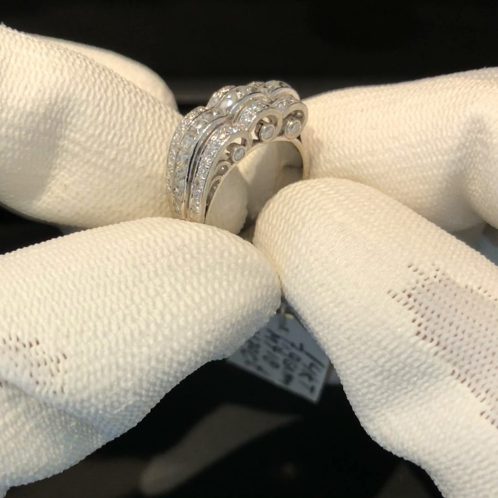 GDR-276 exclusieve witgouden design ring vol briljant tt 1.70 ct, 14 kt en mt 18
